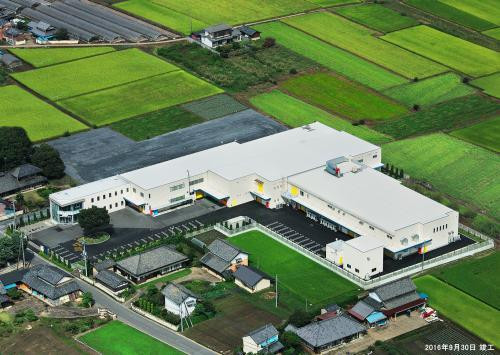 新栃木工場の航空写真です。